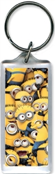 Minion Crowd Lucite Keychain