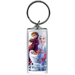 Frozen II Sister Love Anna Elsa Olaf Lucite Keychain