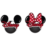 Disney Mickey Minnie Head 2pk Antenna Topper