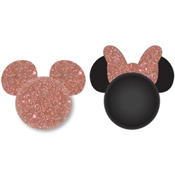 Rose Gold Mickey and Rose Gold Minnie Antenna Topper