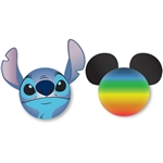 Stitch Face and Mickey Rainbow Antenna Topper