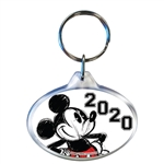 Dated 2020 Original Big Mickey Oval Keychain