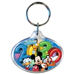 Dated 2020 Fireworks Mickey Goofy Donald Pluto Oval Keychain