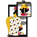 3pc Kitchen Towel Set Mickey Minnie Sunset, Multi (Oven Mitt, Dish Towel, Pot Holder)