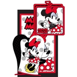 3pc Kitchen Towel Set Cute Chef Minnie, Red (Oven Mitt, Dish Towel, Pot Holder)