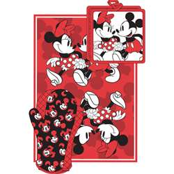 Mickey Minnie Stroll Red Kitchen Towel Set