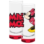 Kissing Minnie Mouse Collection Glass, Red Bottom (No Namedrop)