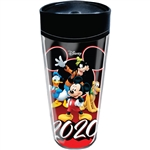 Dated 2020 All Ears Mickey Goofy Donald Pluto Travel Mug