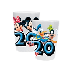 Dated 2020 Fun Faces Mickey Minnie Goofy Donald, White