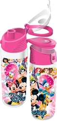 Disney Ensemble Group Mickey Minnie Goofy Donald Pluto Flip Top Bottle