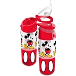 Run Around Mickey Buttons Flip Top Bottle, Red