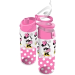Run Around Minnie Dots Flip Top Bottle, Pink