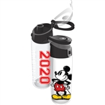 Dated 2020 Mickey Mouse Classic Flip Top Bottle, Clear