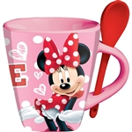 Cup O Sass Minnie Mouse Mug with Spoon, Pink