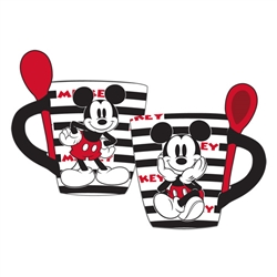 Mickey Stripes Mug with Spoon, Stripes