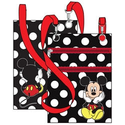 Sitting Mickey Passport Bag, Black
