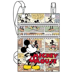 Comic Mickey Mouse Passport Bag, White