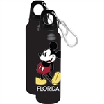 1928 Original Mickey Aluminum Water Bottle, Black (Florida Namedrop)