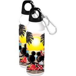 Mickey Minnie Sunset Aluminum Bottle, Multi