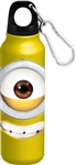 Just Smile Big Face Minion Aluminum Bottle Wide Mouth, Yellow