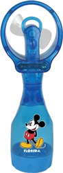 Spray Fan Squeeze Breeze Classic Mickey, Blue (Florida Namedrop)