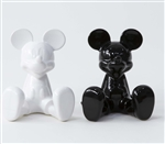 Mickey Minnie Salt & Pepper Shakers, Black White
