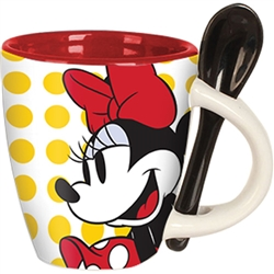 Minnie Classic Dots Espresso Cup with Spoon