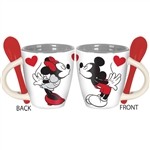 Mickey and Minnie Kiss Espresso Cup with Spoon