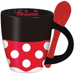 Minnie Signature Dress Espresso Cup with Spoon