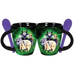 Villains Power Ursella, Maleficent, Evil Queen, & Cruella 4oz Espresso Mug, Green Black
