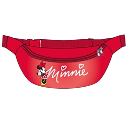 Belly Bag Minnie Mouse Standing Logo, Red