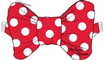 Belly Bag Minnie Bow Polka Dot, Red