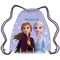 Frozen II Sisters Anna Elsa String Tote, Blue