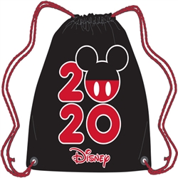 Dated 2020 Mickey Pop String Tote, Black