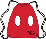 Drawstring Tote Mickey Pants, Red