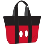 Beach Tote Mickey Pants, Black Red