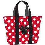 Beach Tote Minnie Polka Dots Bow, Red White