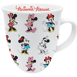 Minnie Through the Years Ceramic Bullet Mug, Multicolored