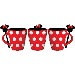 Minnie Dress Polka Dots 11oz Mug w/Spoon, Red White