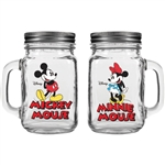 Mickey & Minnie Couple Jar Salt & Pepper Shaker, Clear
