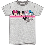 Youth Girls Tee Vacation Pals Minnie Mickey Daisy Donald, Gray