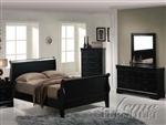 Black Sleigh Master Bedroom Set