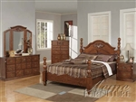 Walnut Finish Master Bedroom Set