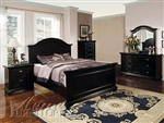 Black Finish Master Bedroom Set