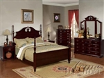 Dark Cherry Master Bedroom Set