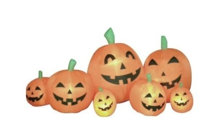 7 5 Ft Long Inflatable Halloween Pumpkins Lawn Decoration