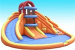 Blue Lagoon Water Park Bouncer With Blower