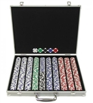 1000 Poker Chip Set with Aluminum Case
