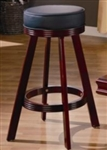 Cherry Finish Upholstered Bar Stool