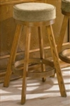 Oak Finish Upholstered Bar Stool